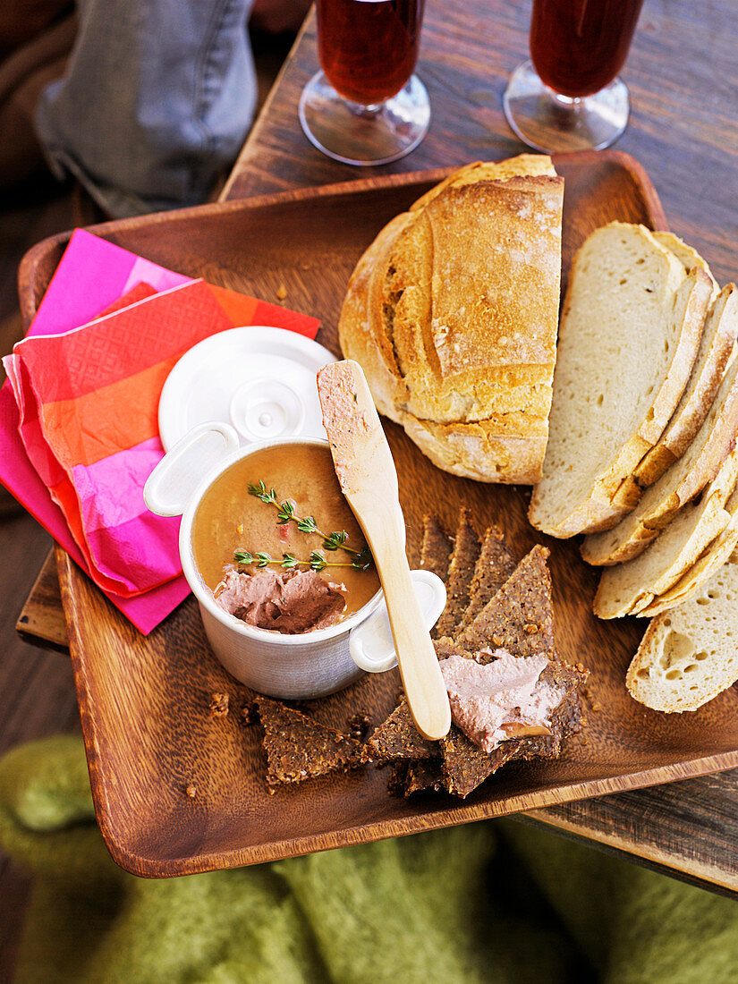 Chicken liver and mushroom pate