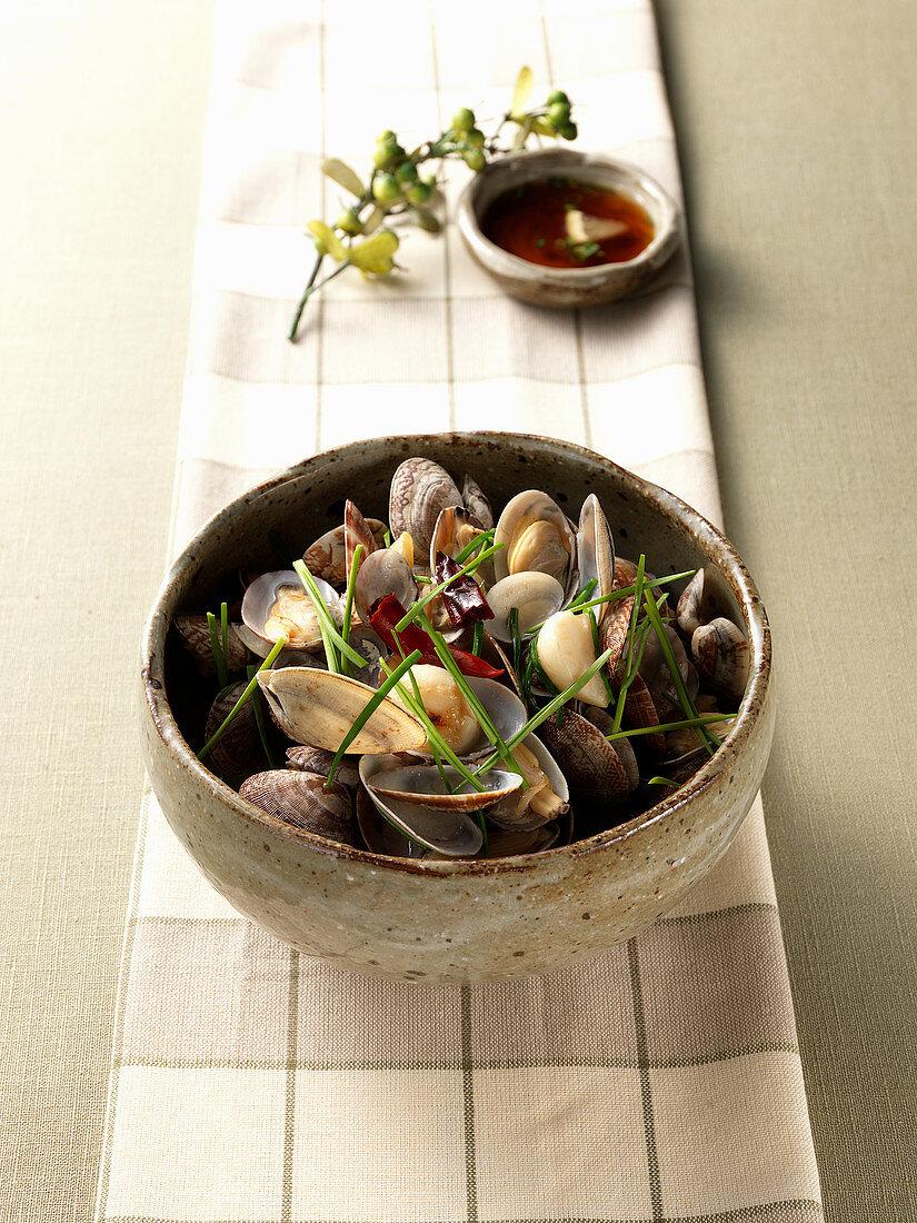Steamed Bajirak (Short-necked clam, Japan)