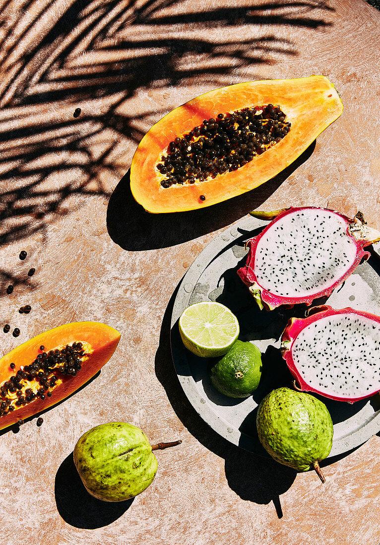 Fresh tropical summer fruit