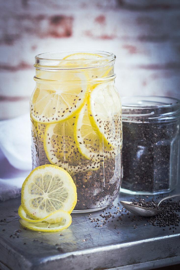 Lemonade with chia seeds