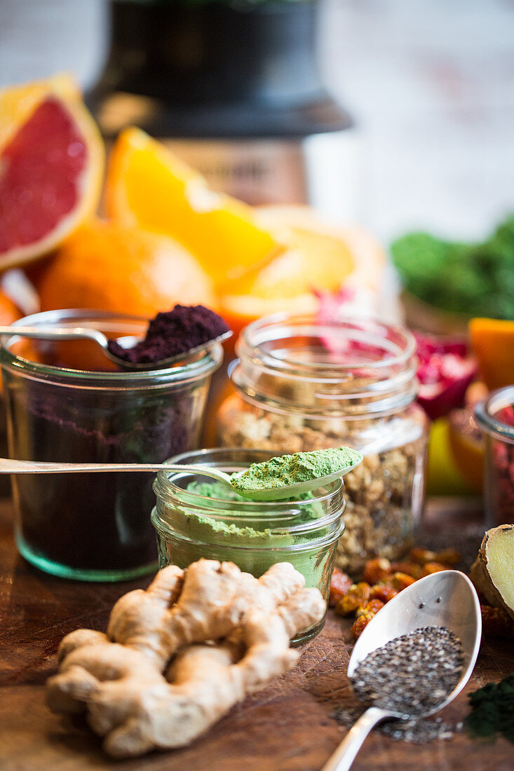 Superfood ingredients for smoothies