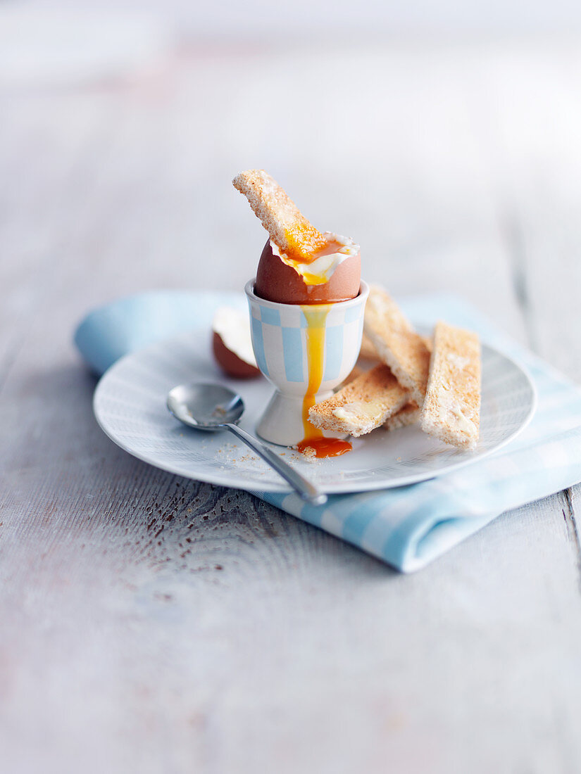 Egg and Soldiers for breakfast