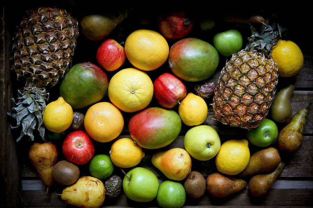 Selection of different fruits