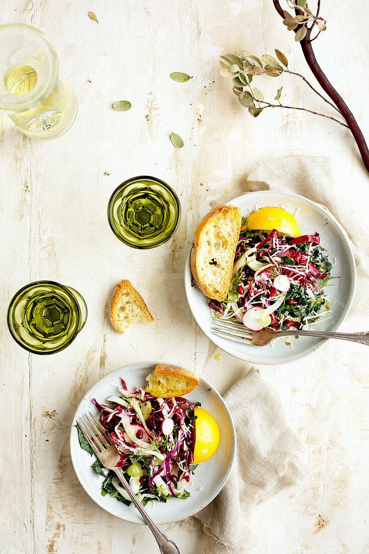 Kale Radicchio Salad with Tangerine Vinaigrette