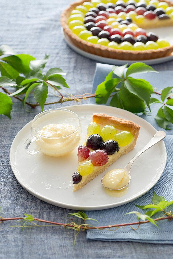 Grape Tart with Vin Santo Cream