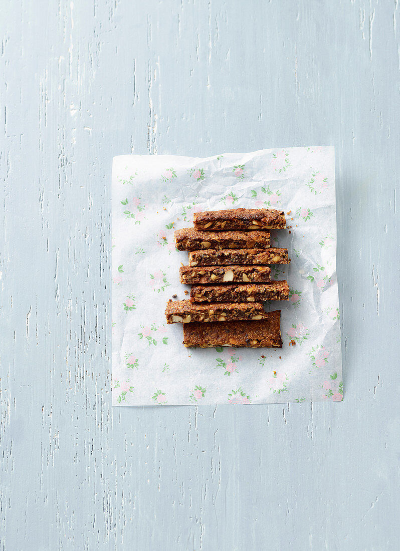 Energy bars with peanuts