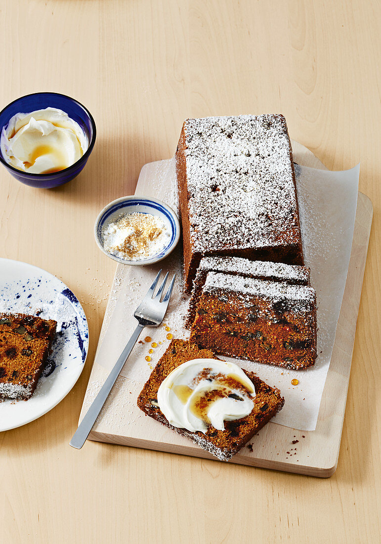 Gluten-free carrot and galangal cake