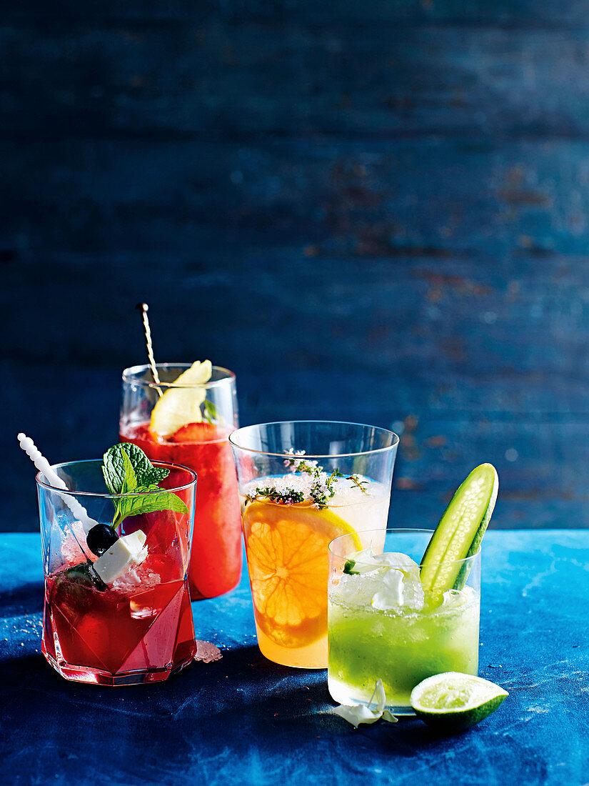 Watermelon spritz, strawberry sour spritz and Seoul sling