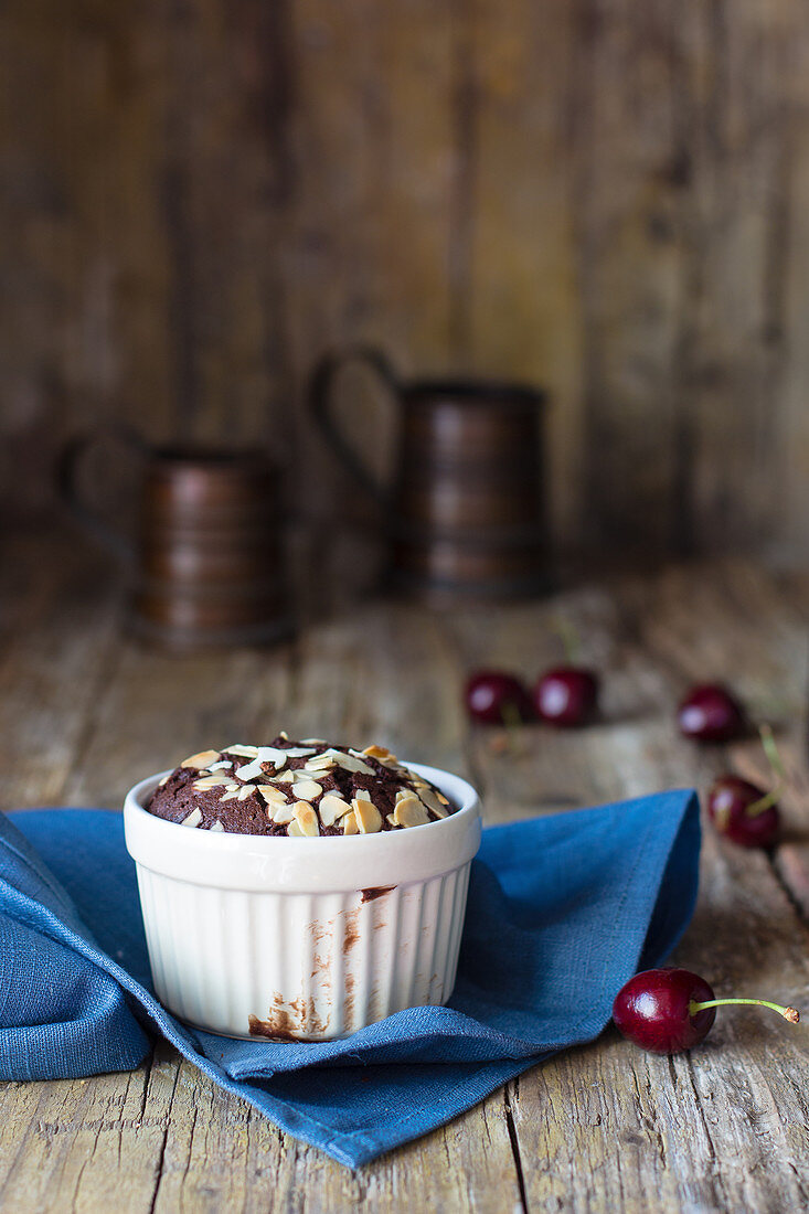 Chocolate Muffin with almonds
