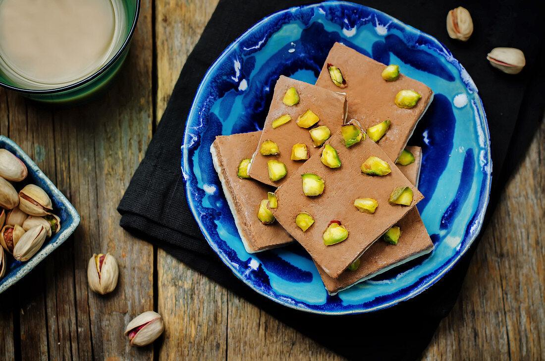 Chocolate burfi (Indian sweets)