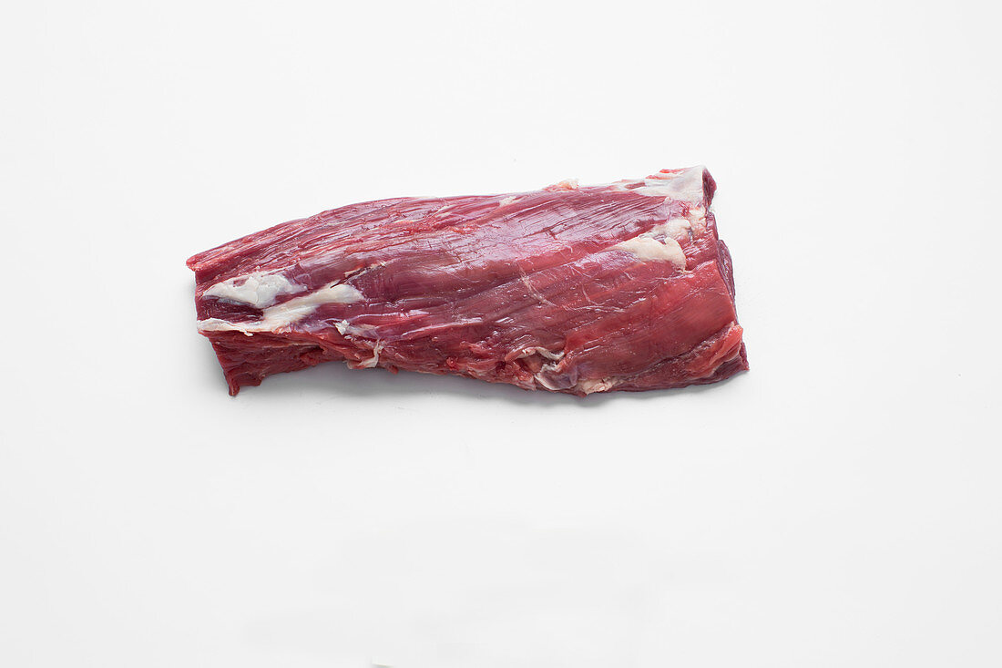 Beef sierra steak cut from the central collar muscle