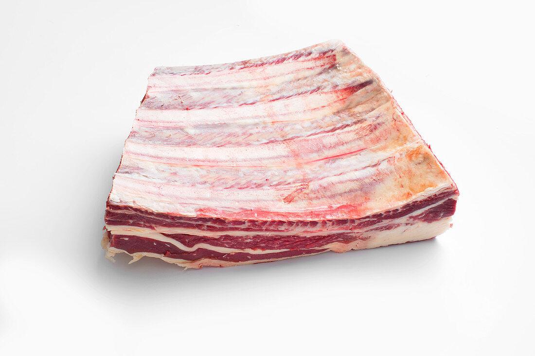 Rack of beef ribs