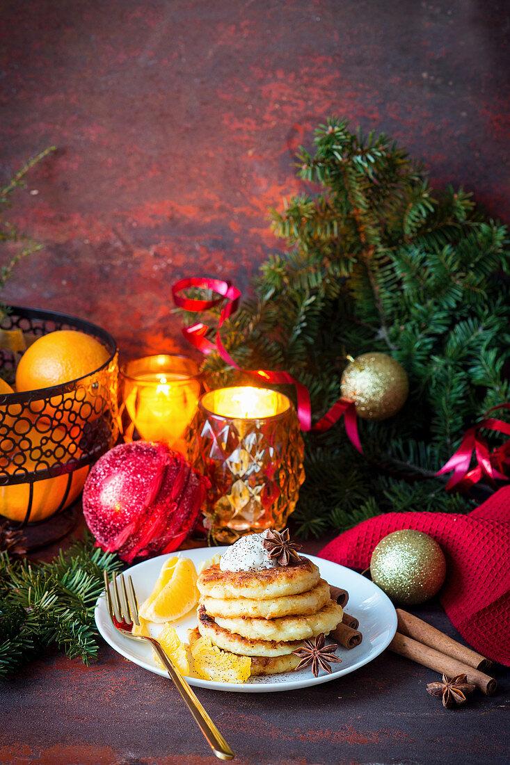 Quark pancakes for Christmas