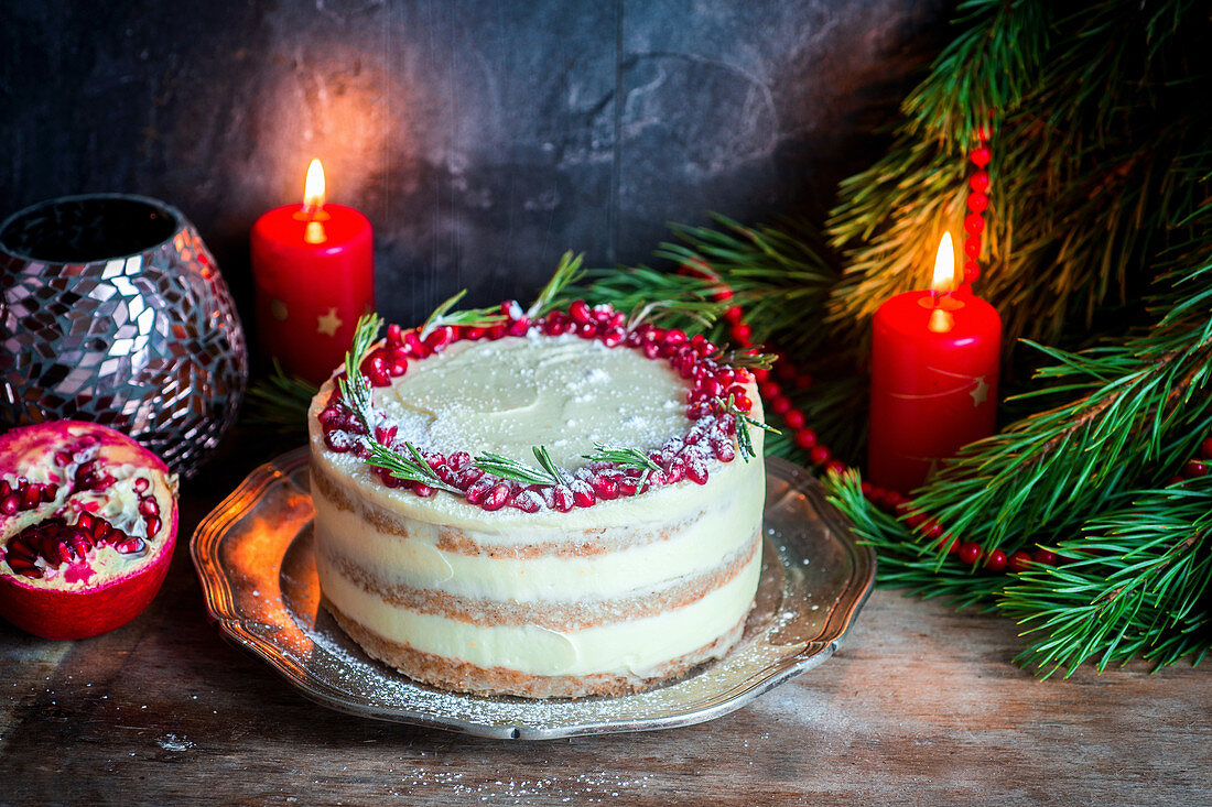 Christmas gigerbread cake