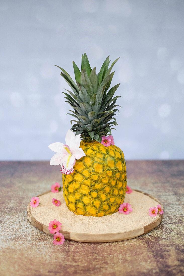 3D pineapple cake