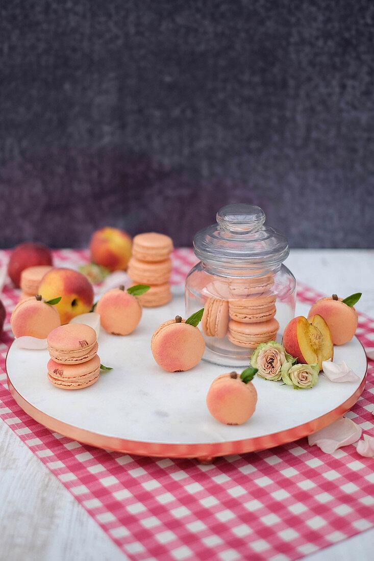 Peach macaroons