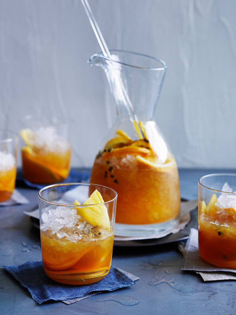 Barbados Cocktail with Passionfruit