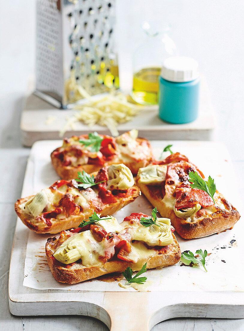 Mozzarella Antipasto Melts