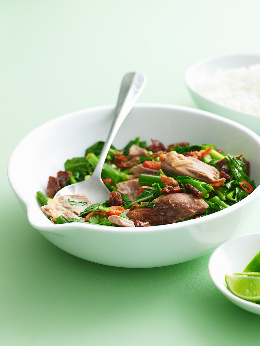 Hoisin Duck with Asian Greens