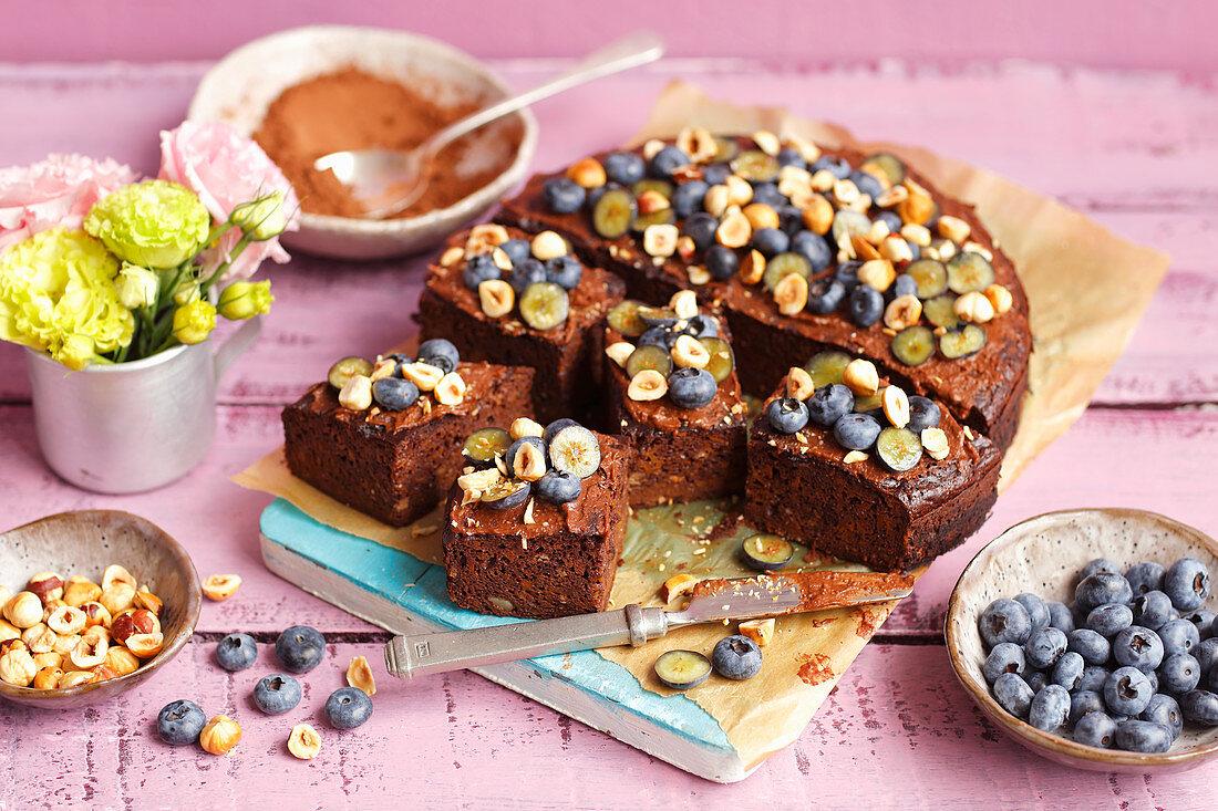 Carrot brownie - fit, no flour, no sugar