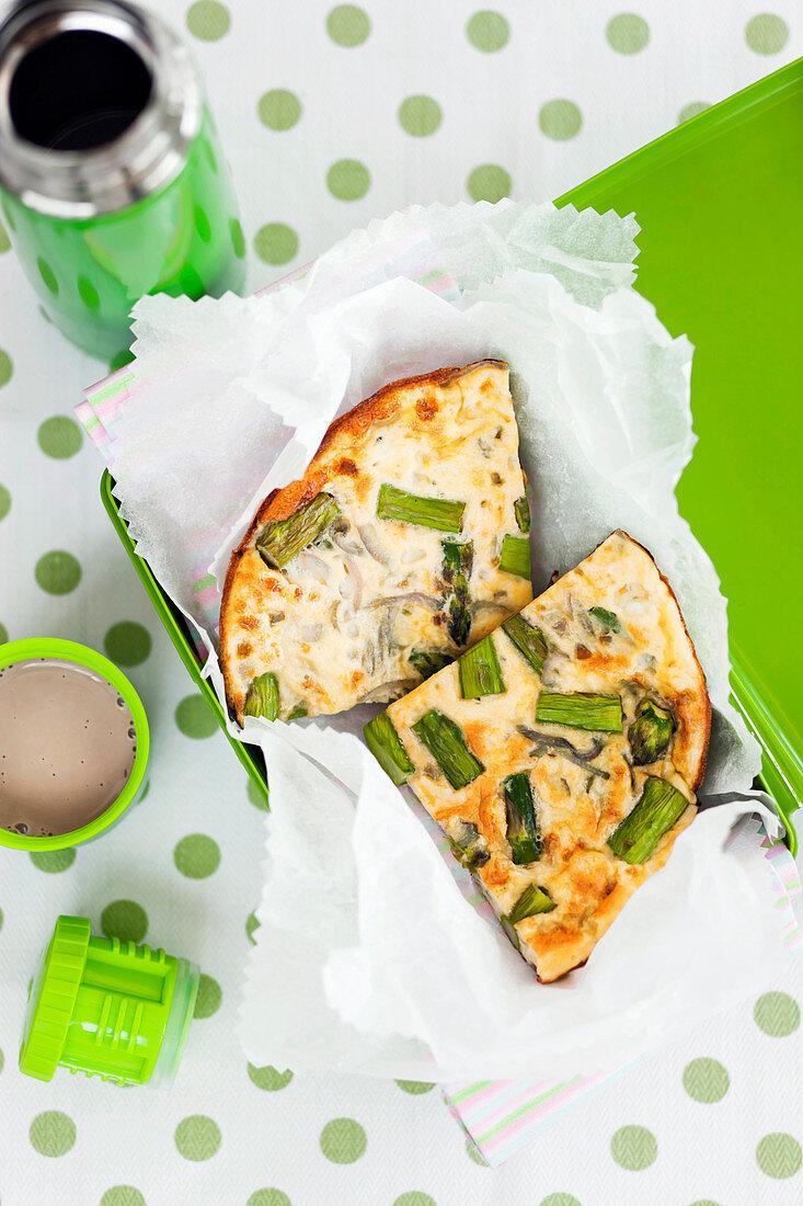 Gluten Free Aspargus Frittata