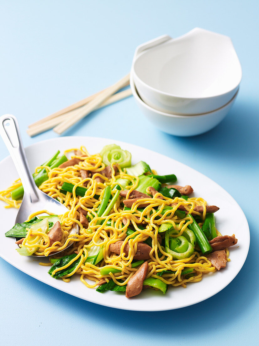 Egg Noodles with Chicken