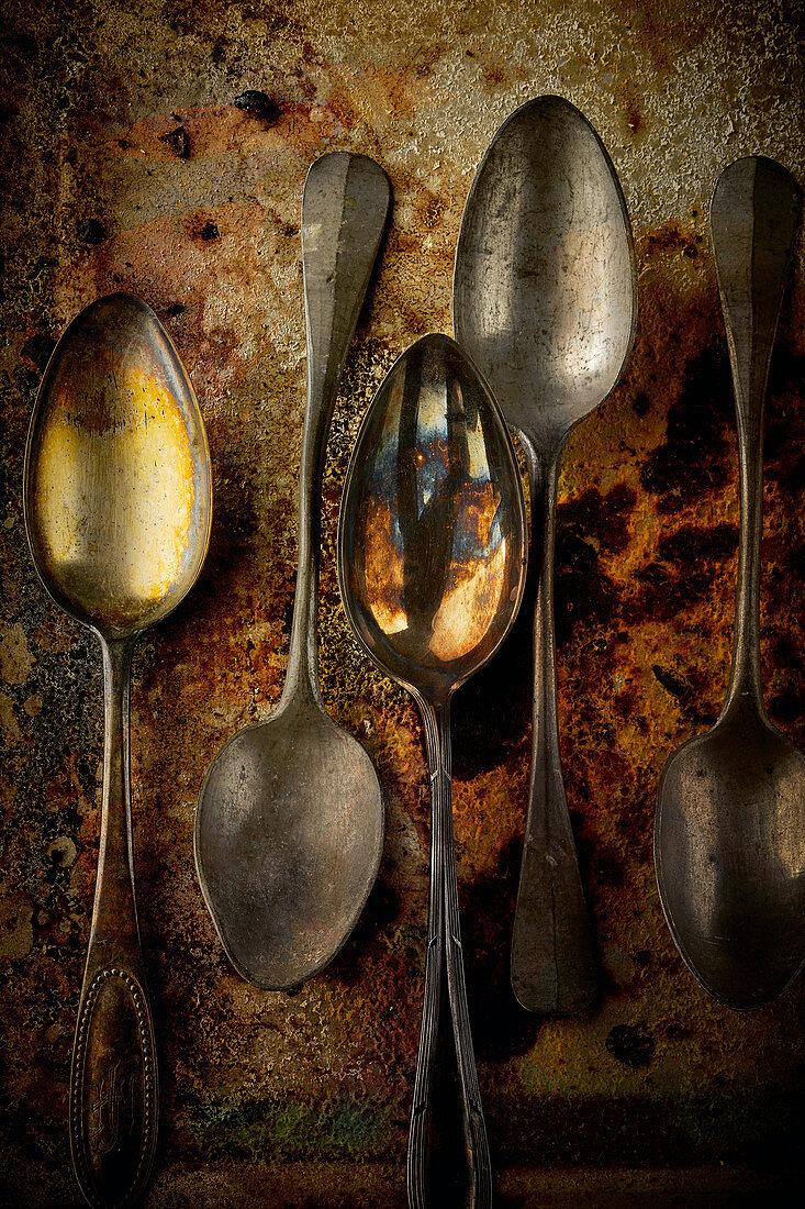 Food art: vintage spoons (inspired by Rubens)