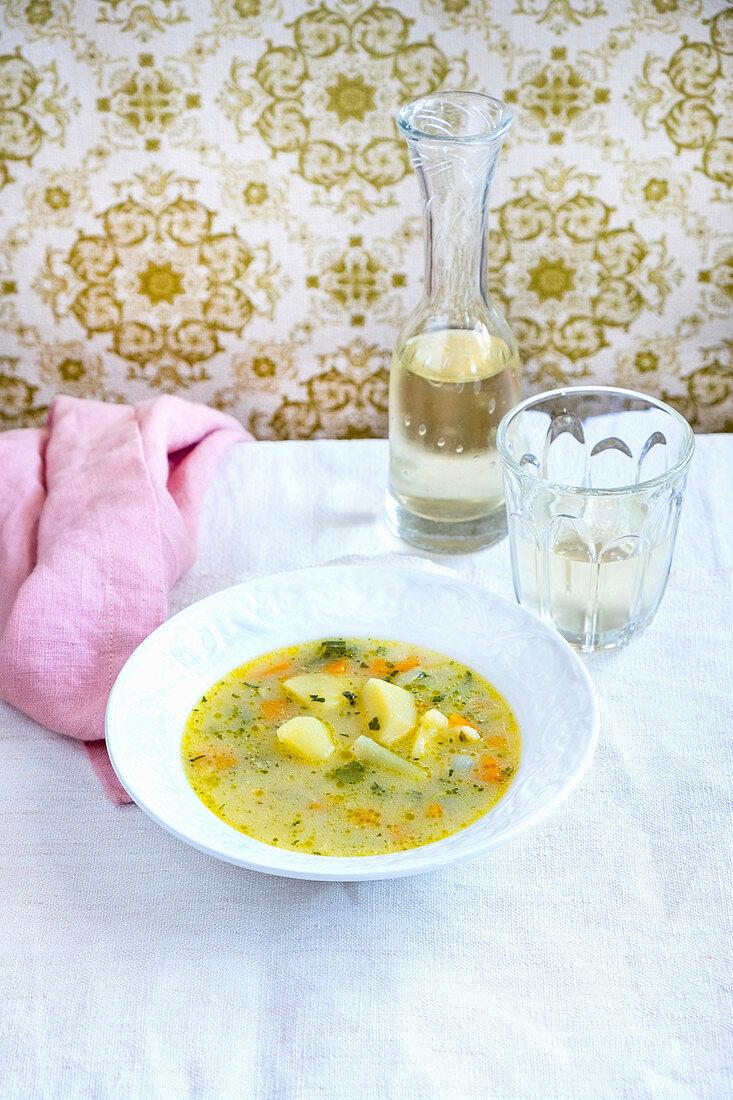 Simple vegetables soup