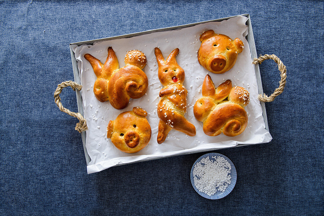 Traditional German bread for Easter, New Year and 'Krampus'