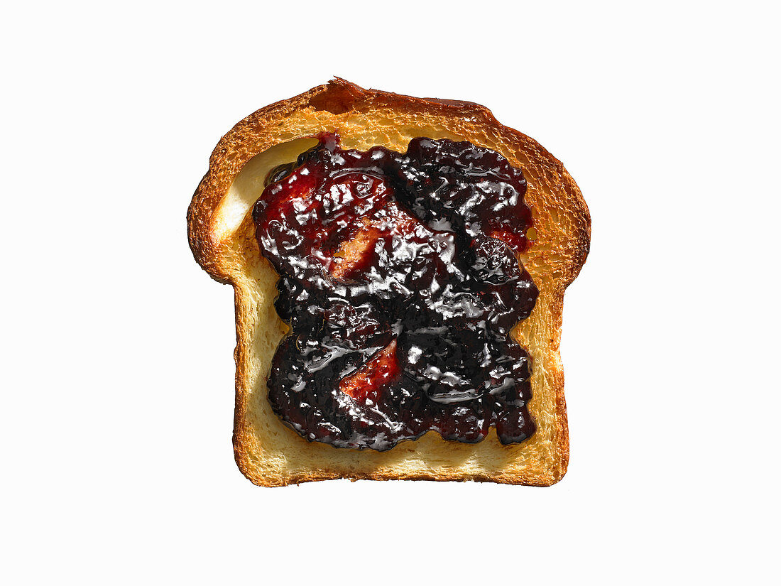 White Bread Toast with Grape Jam