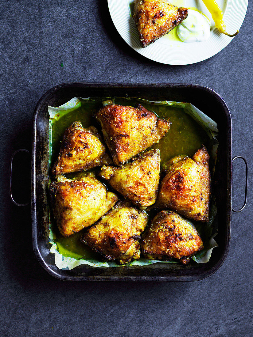 Hawayej-spiced chicken thigh cutlets