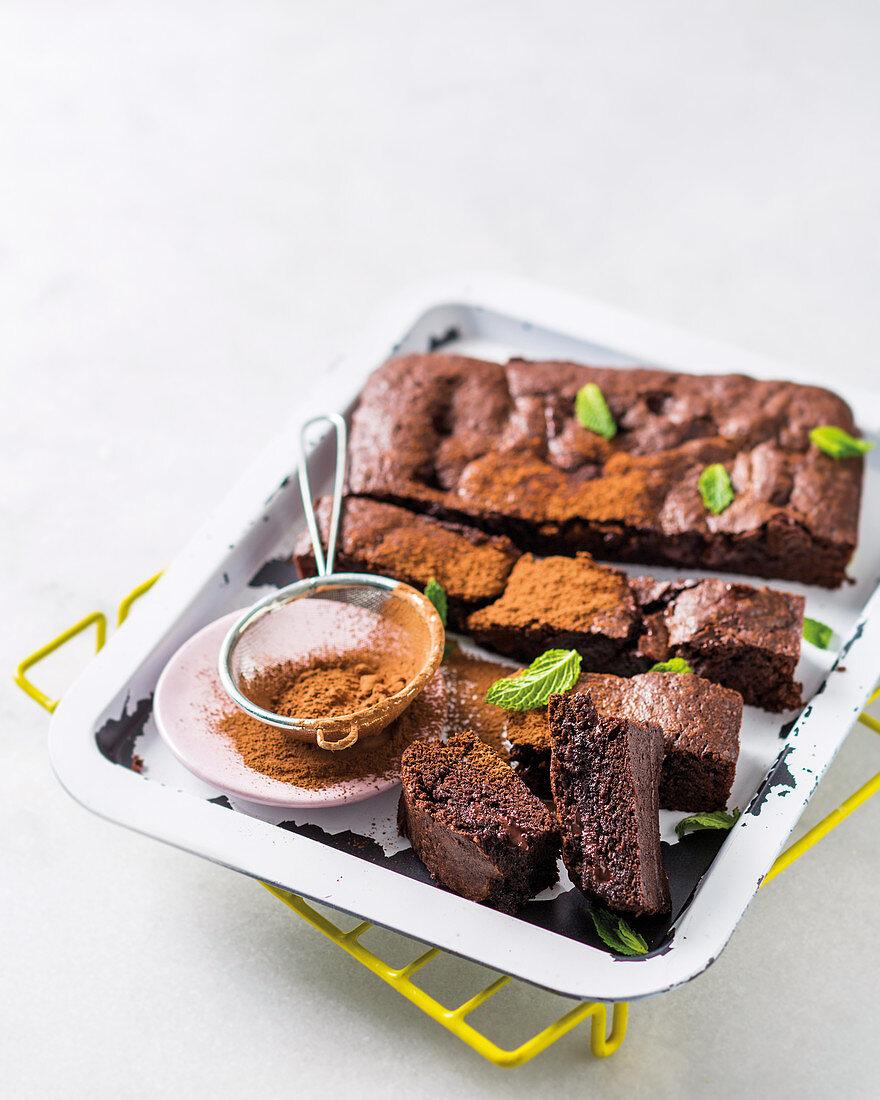 Sticky fudge brownies