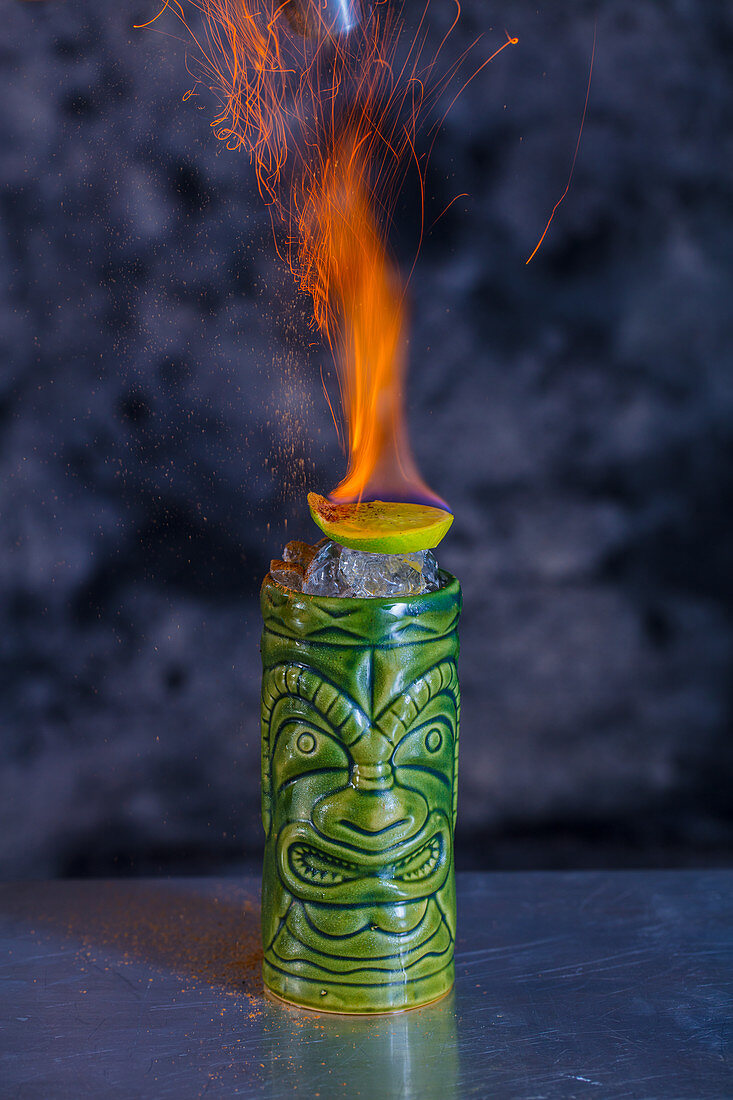 A Burning Zombie cocktail