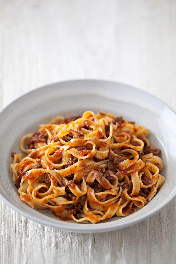 Tagliatelle with ragu alla bolognese