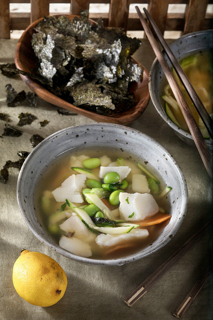 Fish soup with Miso