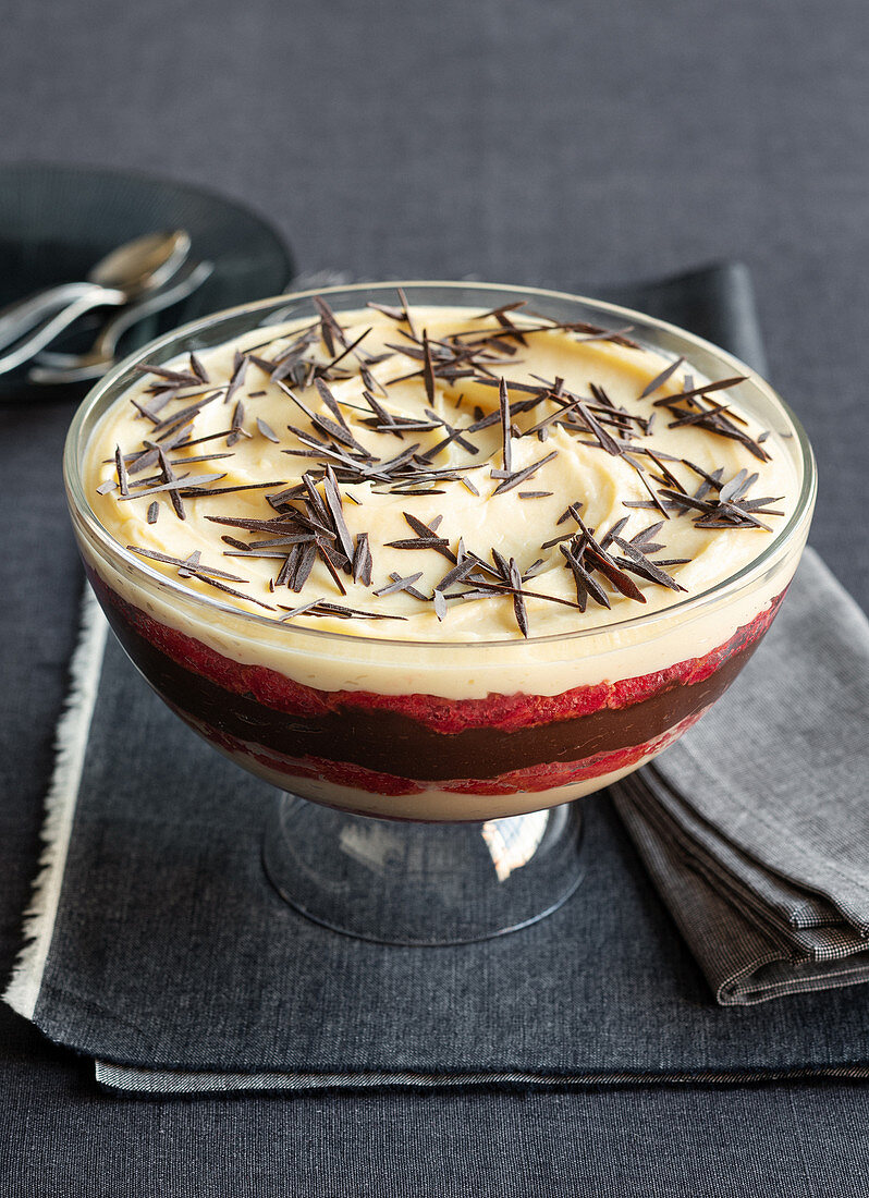 Zuppa inglese (layered dessert made with Alchermes, Italy)