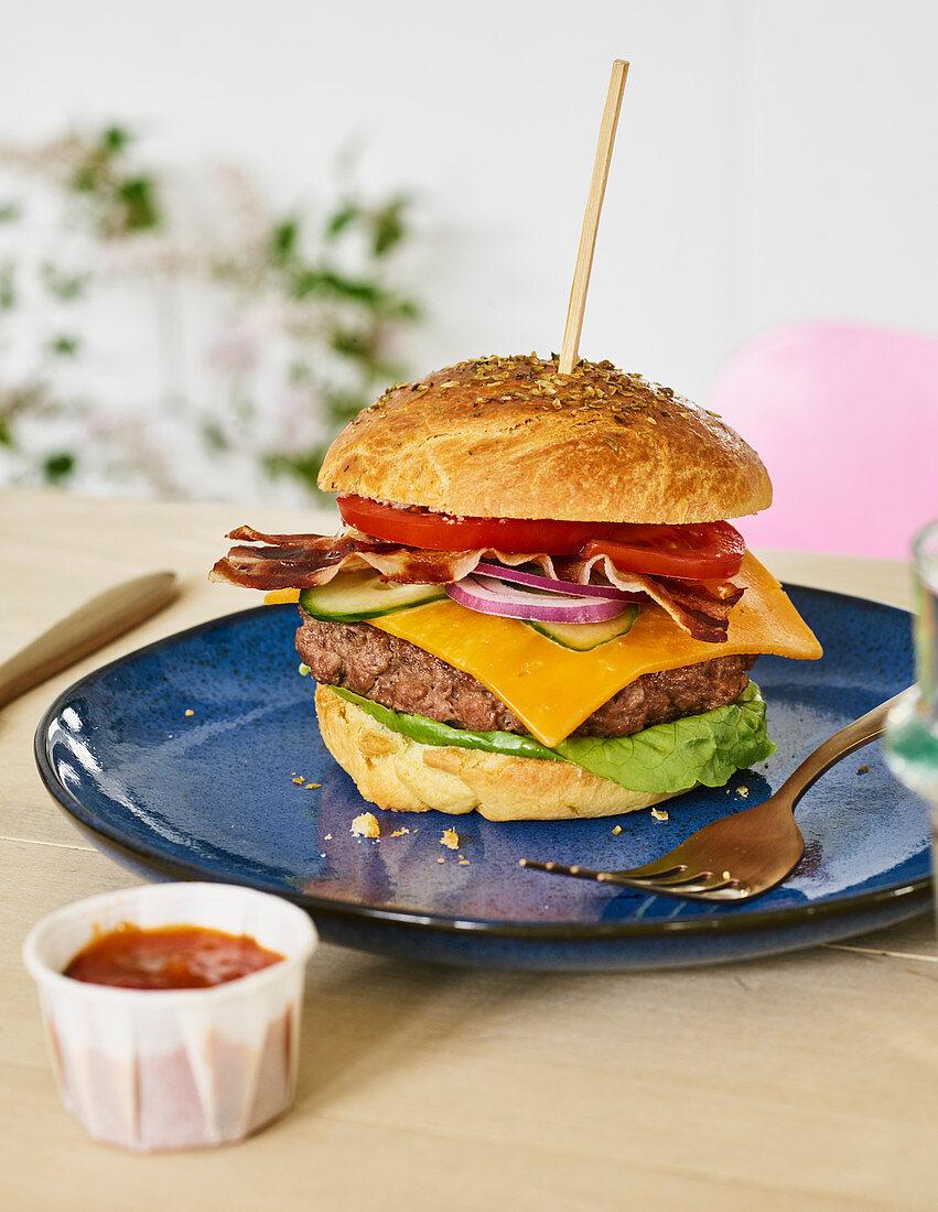 A New York beef burger
