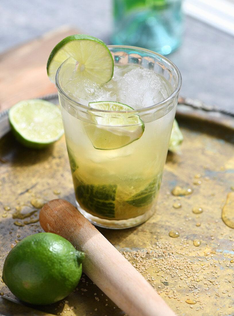 Caipirinha with lime, Brazil