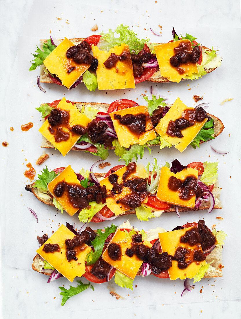 Open Cheese Sandwich