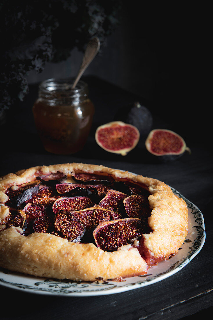 Goat Cheese, Honey and Fig Galette