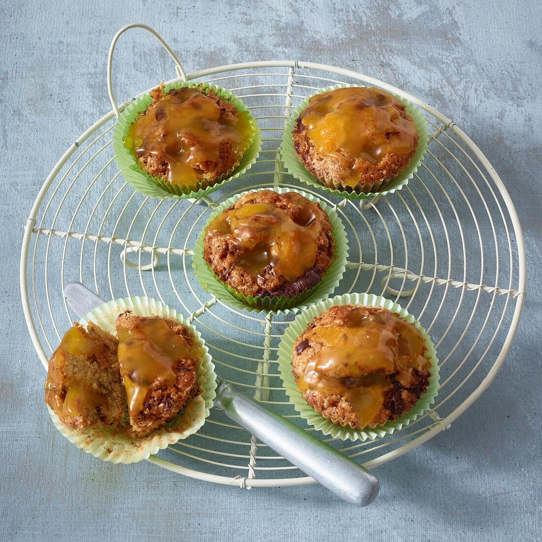 Lemon poke muffins