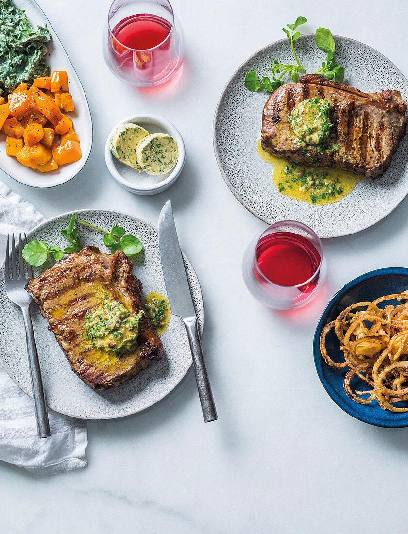 Rump steak with Café de Paris butter