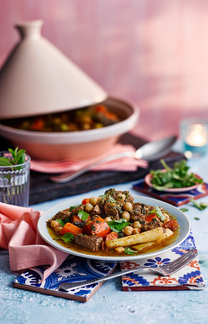 Lamb and vegetable tagine (Morocco)