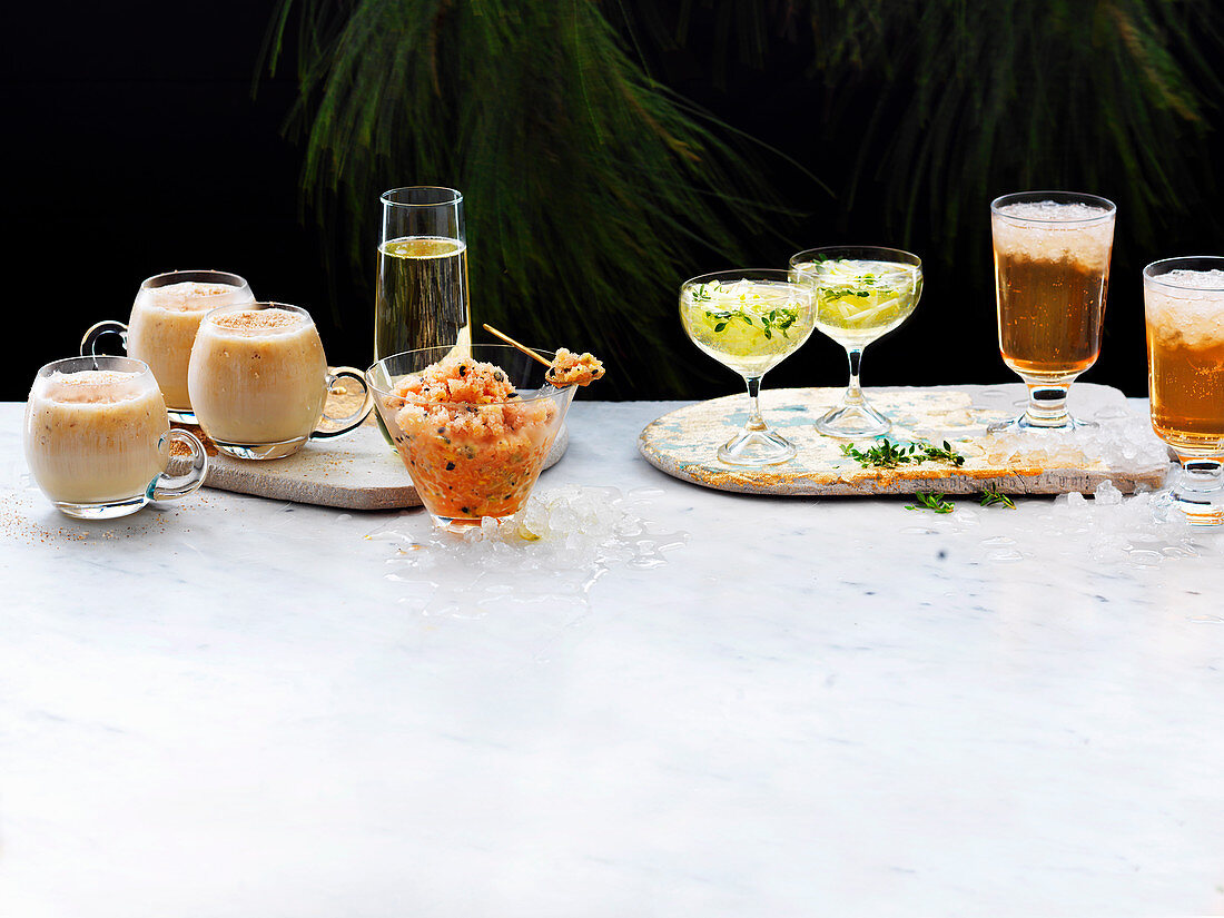 Christmas Drinks - Nutty Leprechaun, Sparkling Guava and Passionfruit, Cidar and Apple Punch, Elderflower Mimosa
