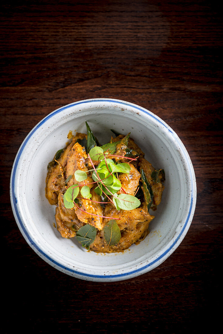 Kori Gassi Chicken with Coconut curry Sauce (India)