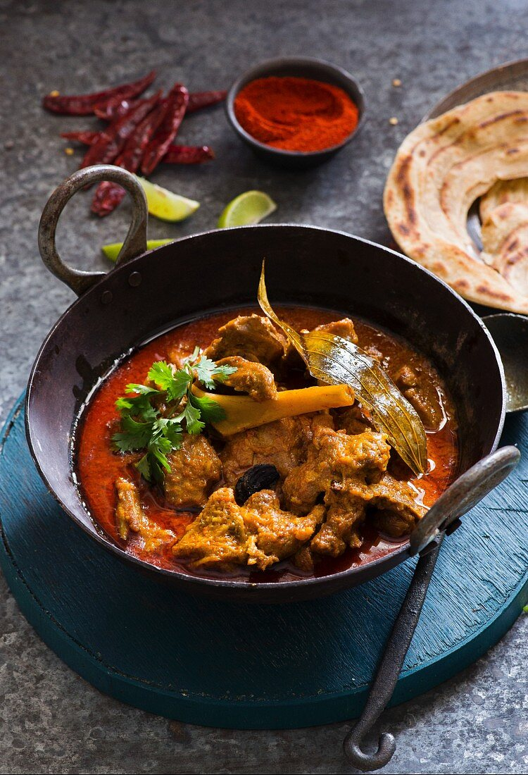 Rajasthani red mutton curry
