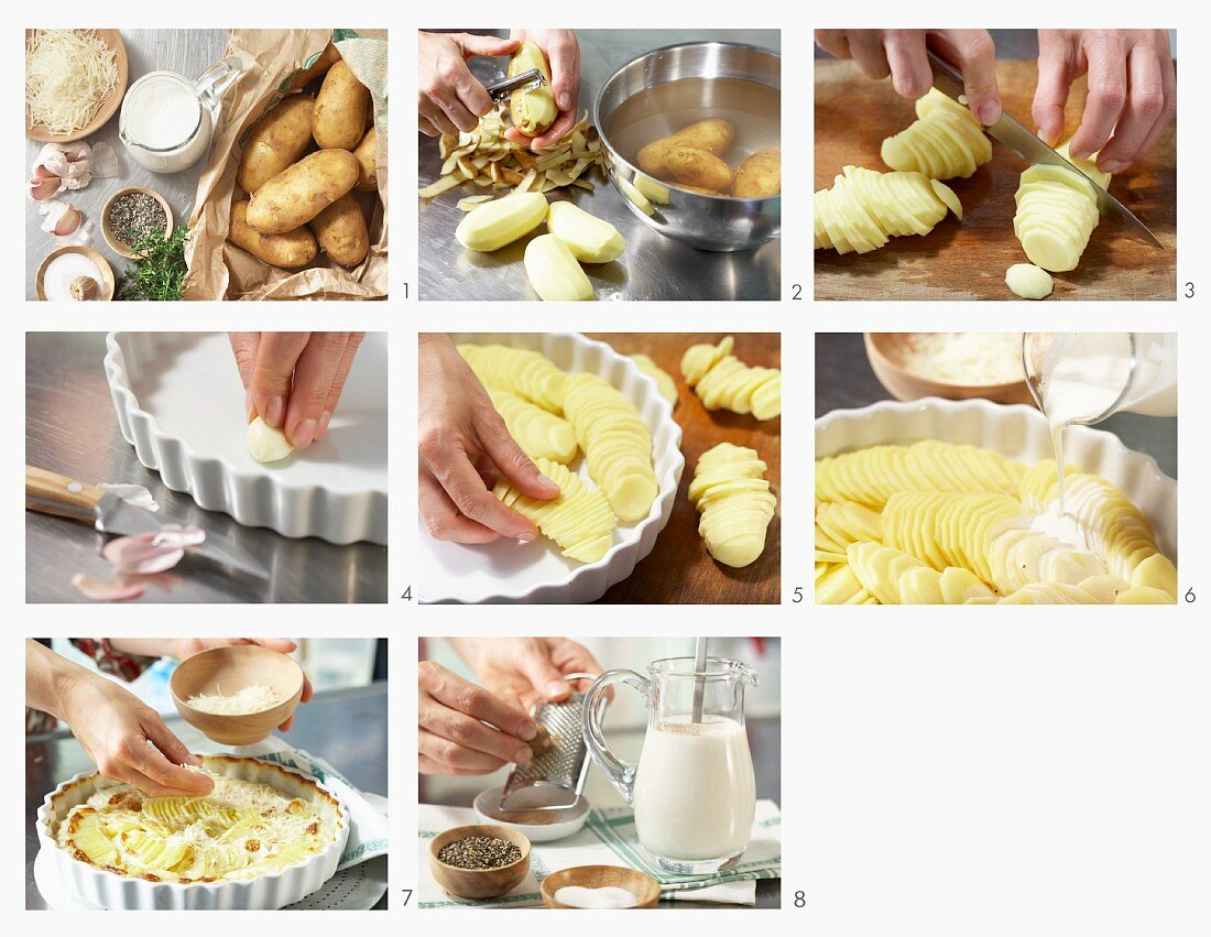 How to prepare potato gratin