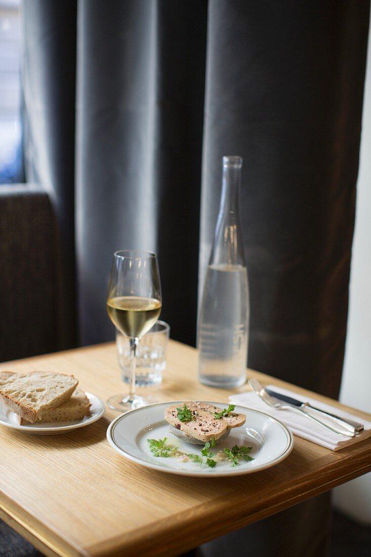 Foie gras at the 'La Bourse et La Vie' restaurant, Paris, France
