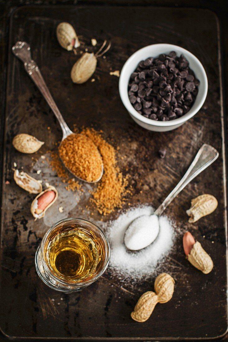 Zutaten für Mini-Erdnusskuchen mit Bourbon-Vanille