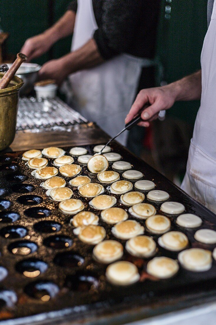 Poffertjes (small pancakes) stand